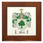 Wood Coat of Arms Family Crest Framed Tile