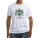 Wood Coat of Arms Family Crest Fitted T-Shirt