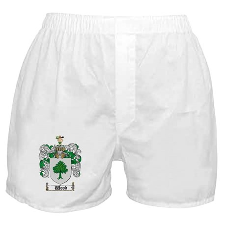 Wood Coat of Arms Family Crest Boxer Shorts