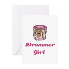 Drummer Girl Greeting Cards (Pk of 10)