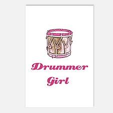 Drummer Girl Postcards (Package of 8)