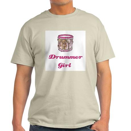 Drummer Girl Ash Grey T-Shirt