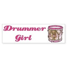 Drummer Girl Bumper Bumper Sticker