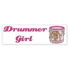 Drummer Girl Bumper Car Sticker