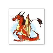 "Daquan's Dragon Square Sticker 3"" x 3"""