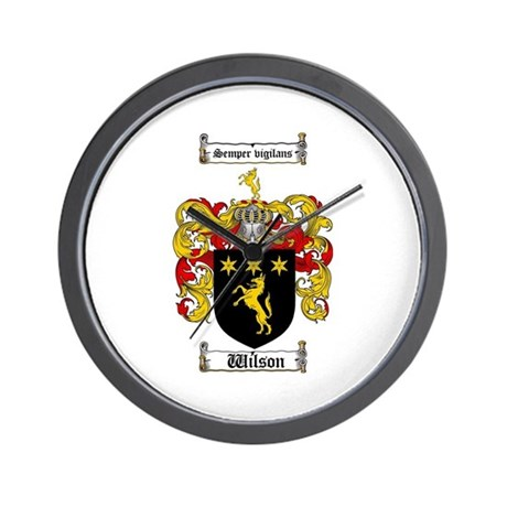 Wilson Coat of Arms Family Crest Wall Clock