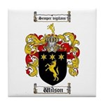 Wilson Coat of Arms Family Crest Tile Coaster