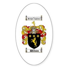 Wilson Coat of Arms Family Crest Oval Decal