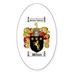 Wilson Coat of Arms Family Crest Oval Sticker