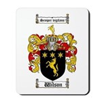 Wilson Coat of Arms Family Crest Mousepad