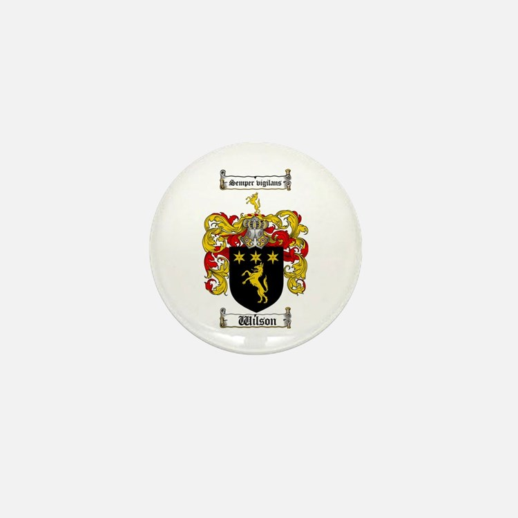 Wilson Coat of Arms Family Crest Mini Button
