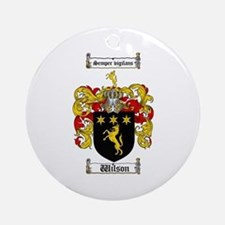 Wilson Coat of Arms Family Crest Ornament (Round)