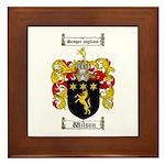 Wilson Coat of Arms Family Crest Framed Tile