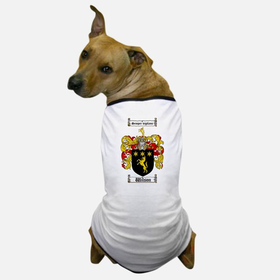 Wilson Coat of Arms Family Crest Dog T-Shirt