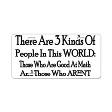 3people Aluminum License Plate