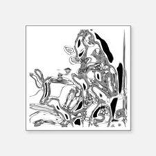 "baboon crome Square Sticker 3"" x 3"""