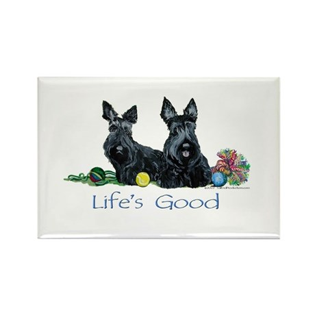 Scottish Terrier Life! Rectangle Magnet (100 pack)