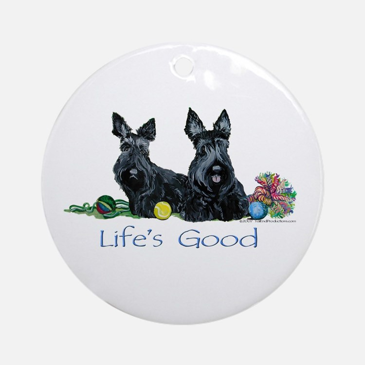 Scottish Terrier Life! Ornament (Round)