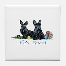 Scottish Terrier Life! Tile Coaster