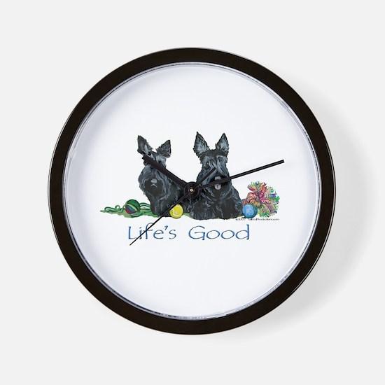 Scottish Terrier Life! Wall Clock
