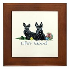 Scottish Terrier Life! Framed Tile