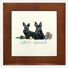 Scottish Terrier Life! Framed Tile