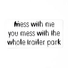 mess Aluminum License Plate