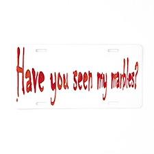 good-marbles Aluminum License Plate