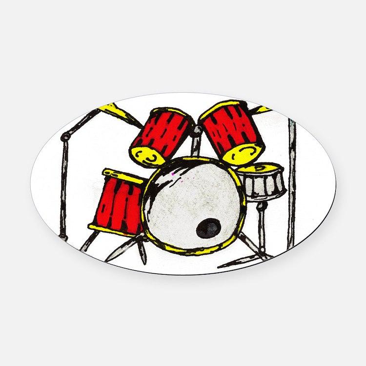 drums Oval Car Magnet