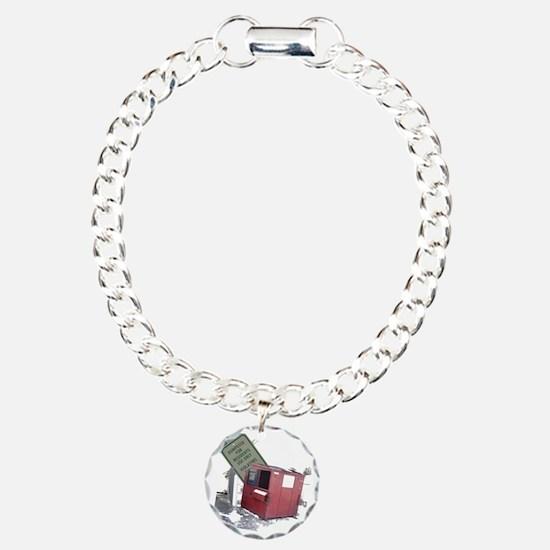 dumpster-black Charm Bracelet, One Charm