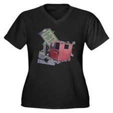 dumpster-bla Women's Plus Size Dark V-Neck T-Shirt
