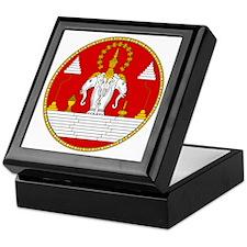 Laotian Royal Coat of Arms Keepsake Box