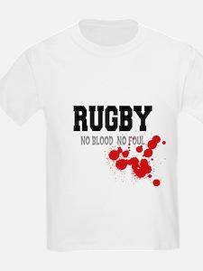No Blood No Foul Rugby Kids T-Shirt