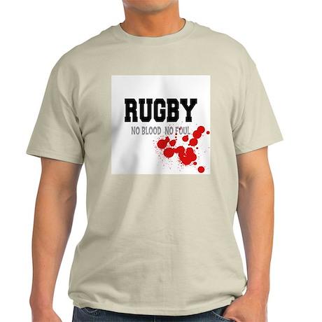 No Blood No Foul Rugby Ash Grey T-Shirt