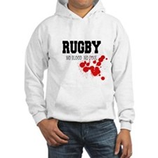 No Blood No Foul Rugby Hoodie
