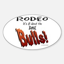 It's all about the Balls(BULLS) Oval Decal