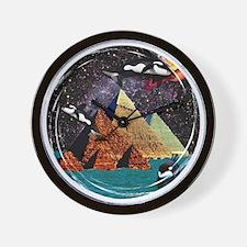 new.black Wall Clock