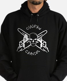 chainsaw_CARVING_skull-black Hoodie