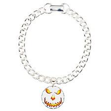 pumpkinface-black Charm Bracelet, One Charm
