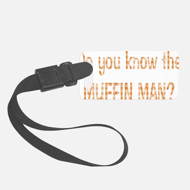 muffin-black Luggage Tag