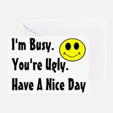 busy Greeting Card