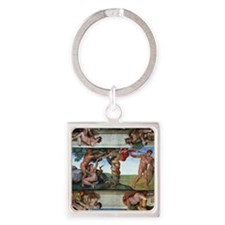 fall of man Square Keychain