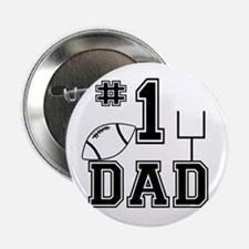 """Number One Football Dad Light 2.25"""" Button"""