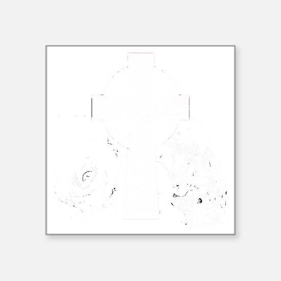 "skullcross-black Square Sticker 3"" x 3"""