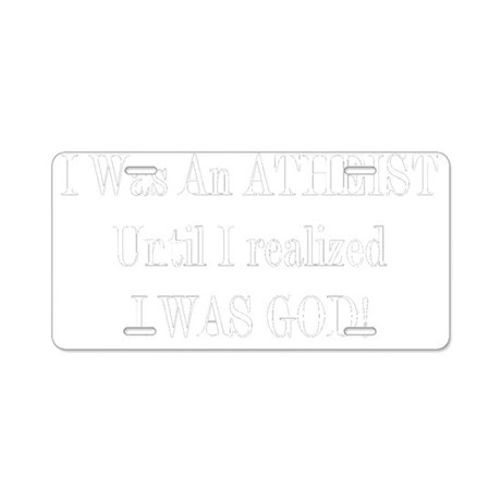 atgod-black Aluminum License Plate
