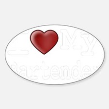 bartender-black Sticker (Oval)