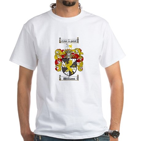 Williams Coat of Arms Family Crest White T-Shirt
