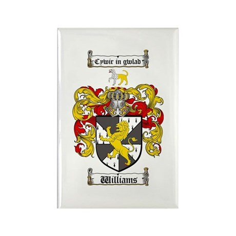 Williams Coat of Arms Family Crest Rectangle Magne
