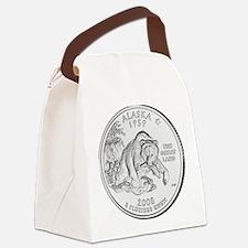 alaska-black Canvas Lunch Bag