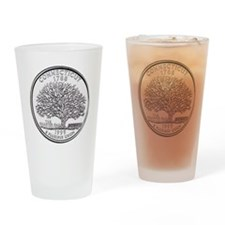 connecticut-black Drinking Glass